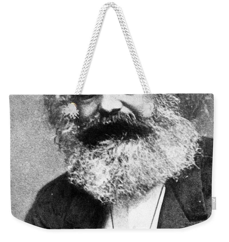Karl Marx (photogravure)karl Marx (1818-93) Weekender Tote Bag featuring the painting Karl Marx by Unknown