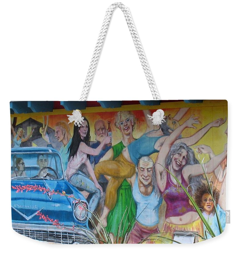 Keeping It Weird In Austin Weekender Tote Bag featuring the photograph Keeping It Weird In Austin by Patti Whitten