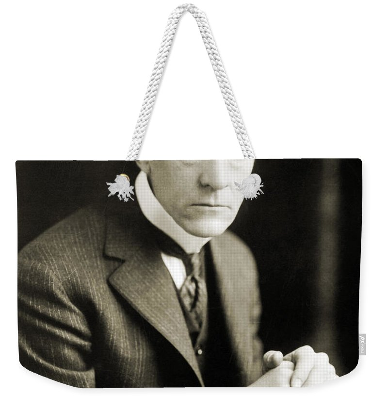 1926 Weekender Tote Bag featuring the photograph Kenesaw Mountain Landis by Granger