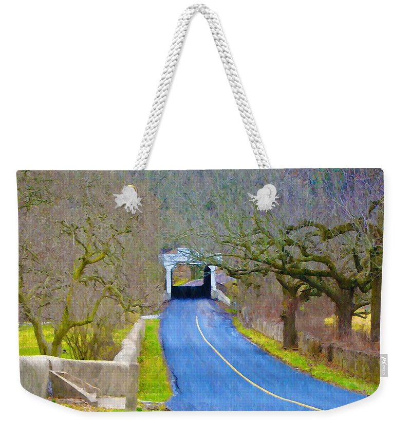 Kennedys Weekender Tote Bag featuring the photograph Kennedy's Bridge Over French Creek by Bill Cannon