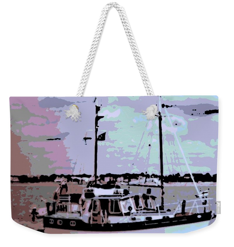 Boat Weekender Tote Bag featuring the photograph Ketch by George Pedro