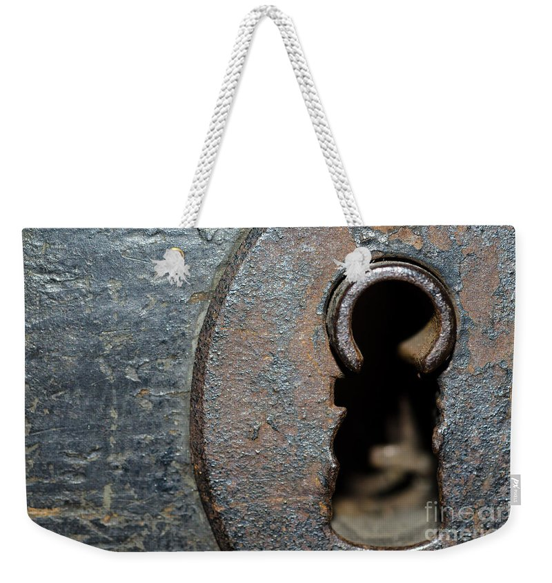 Door Weekender Tote Bag featuring the photograph Keyhole by Mats Silvan