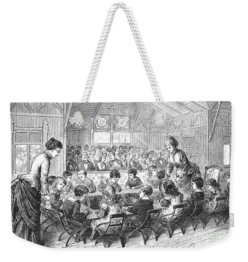 1876 Weekender Tote Bag featuring the photograph Kindergarten, 1876 by Granger