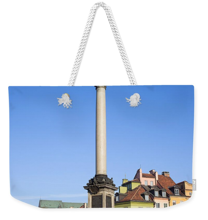Architecture Weekender Tote Bag featuring the photograph King Sigismund Column In Warsaw by Artur Bogacki