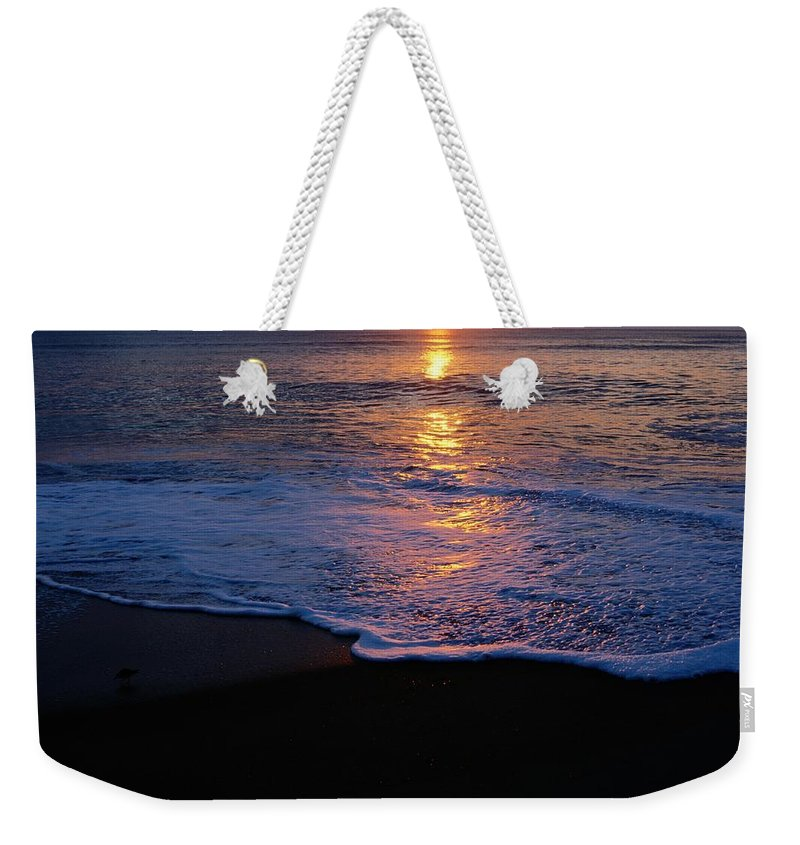 kitty Hawk Weekender Tote Bag featuring the photograph Kitty Hawk Beach At Sunset by Raymond Gehman