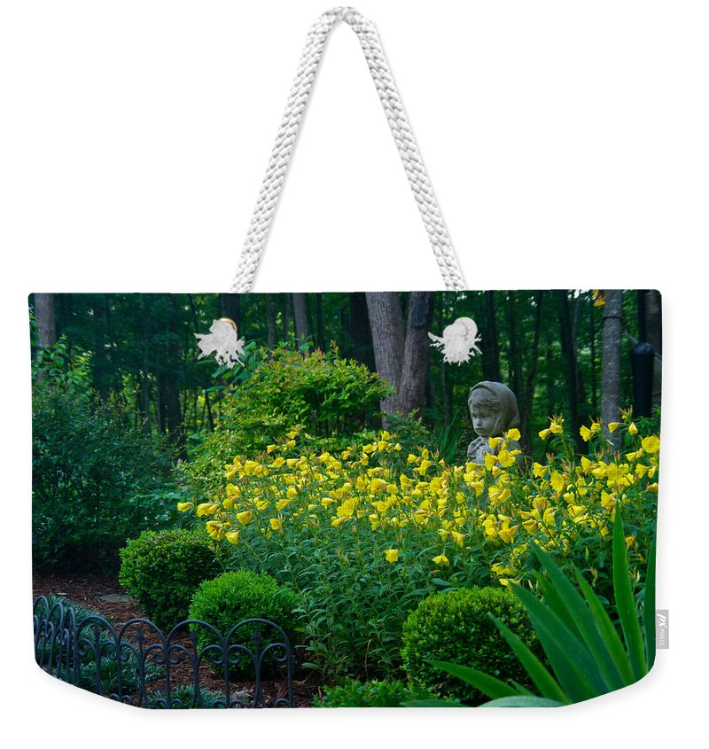 Lady Weekender Tote Bag featuring the photograph Lady Among The Blossoms by Douglas Barnett