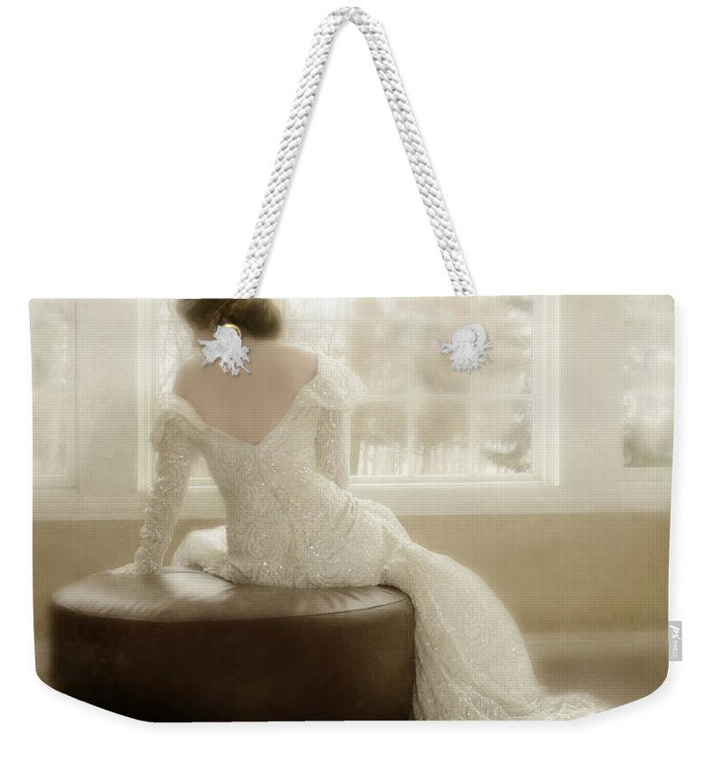 Beautiful Weekender Tote Bag featuring the photograph Lady In Sequin Gown by Jill Battaglia