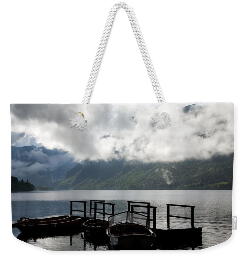Bohinj Weekender Tote Bag featuring the photograph Lake After The Storm by Ian Middleton