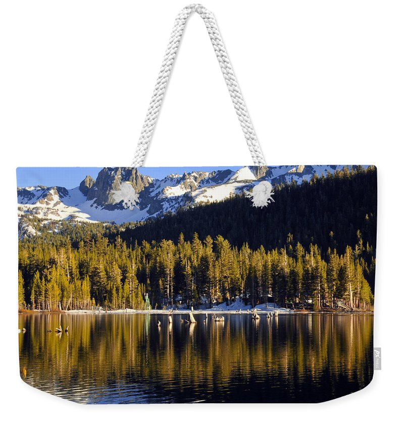 Lake Mary Weekender Tote Bag featuring the photograph Lake Mary Golden Hour by Lynn Bauer