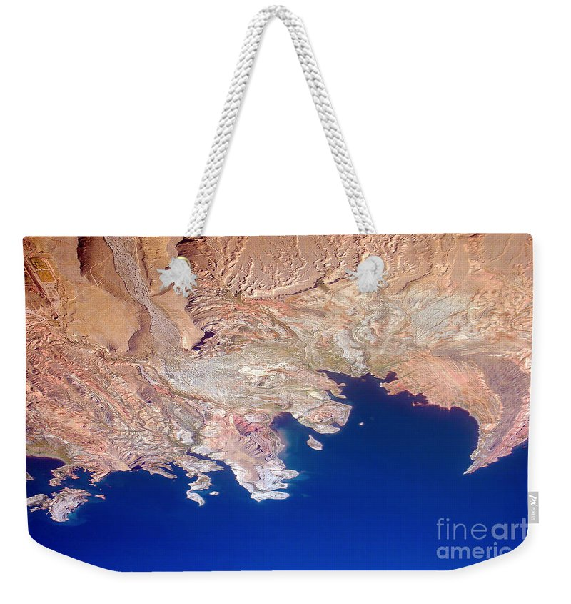 Mead Weekender Tote Bag featuring the photograph Lake Mead Shores Nv Planet Earth by James BO Insogna