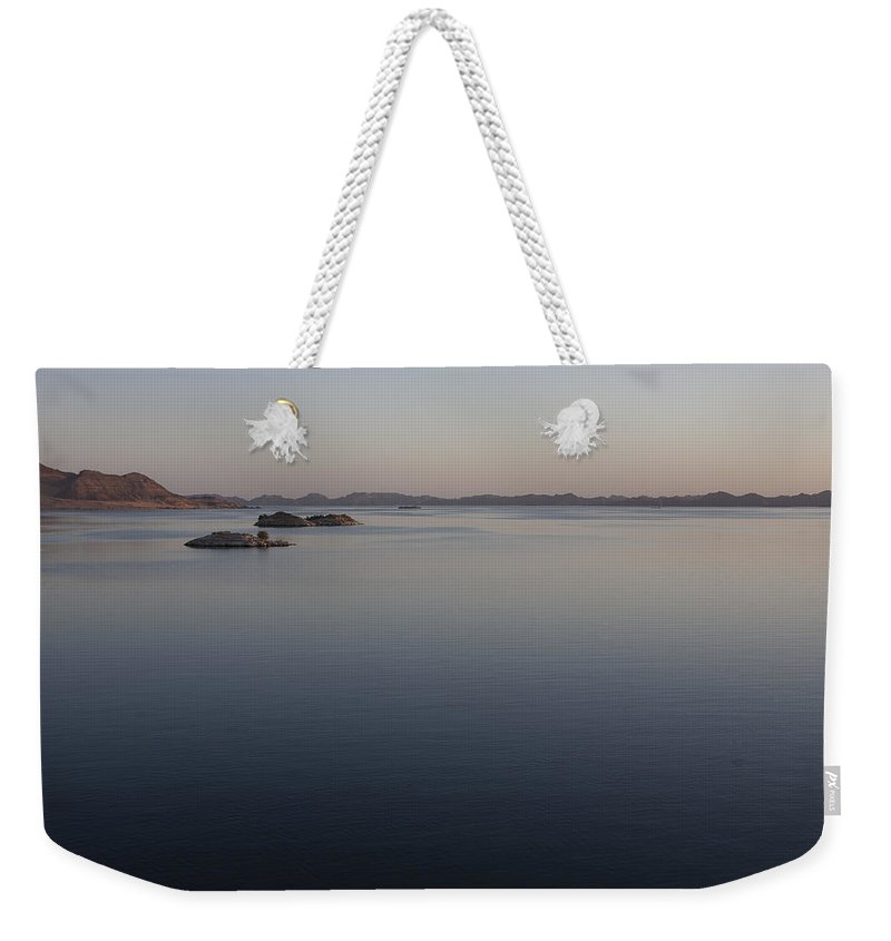 Away From It All Weekender Tote Bag featuring the photograph Lake Nasser, Formed When The Nile by Taylor S. Kennedy