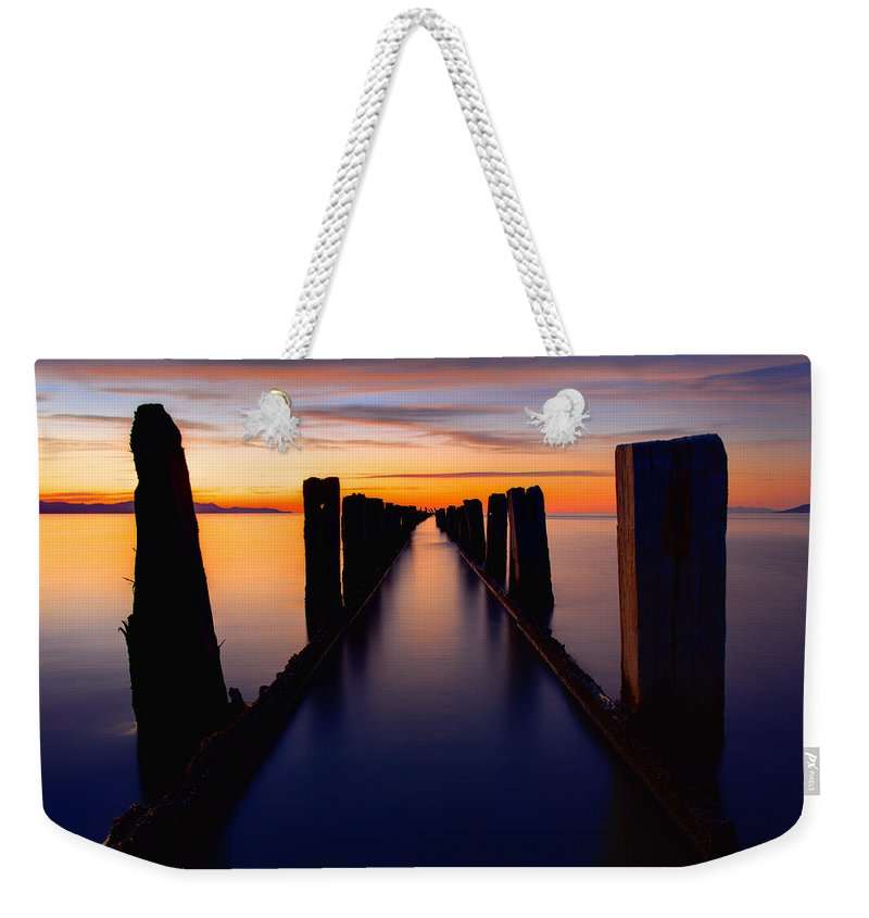 Lake Reflection Weekender Tote Bag featuring the photograph Lake Reflection by Chad Dutson