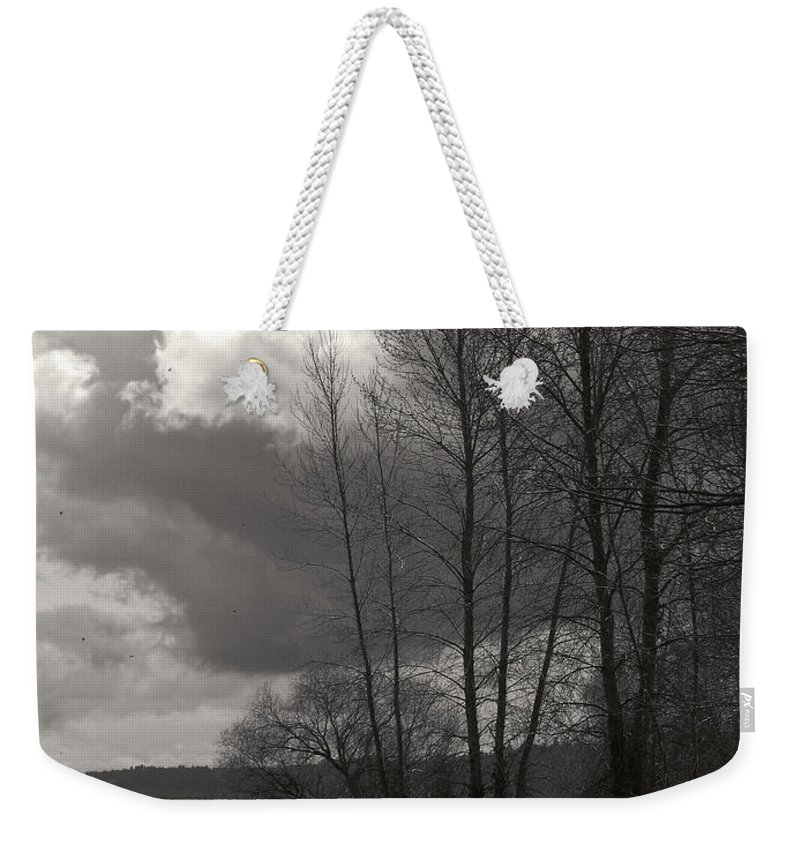 Lake Weekender Tote Bag featuring the photograph Lakeside Storm Passing by Kathleen Grace