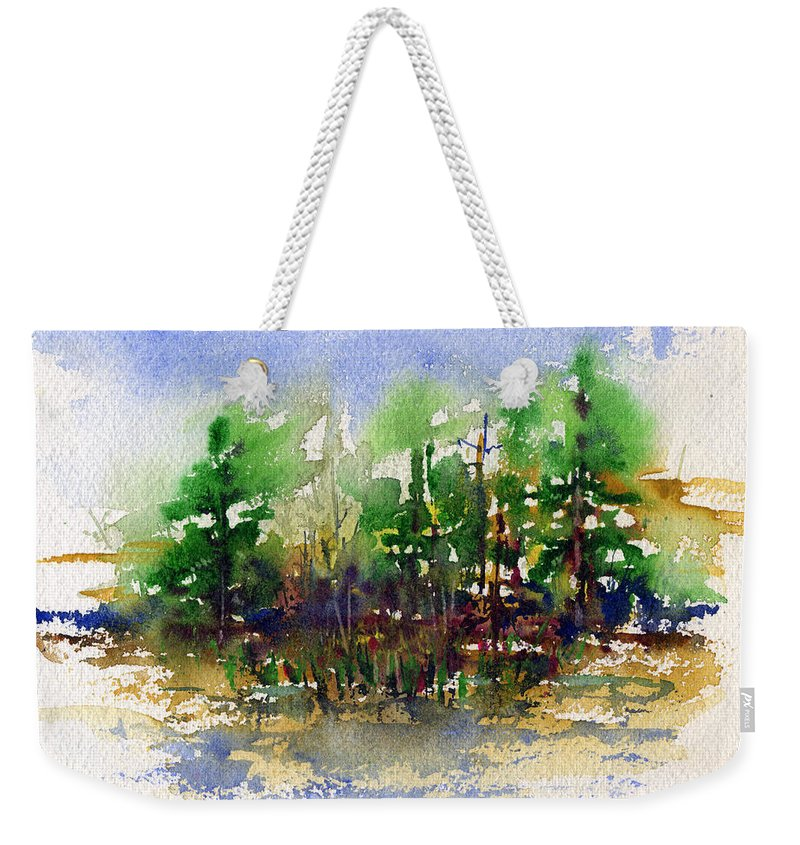 Nature Weekender Tote Bag featuring the painting Landscape 1 by John D Benson