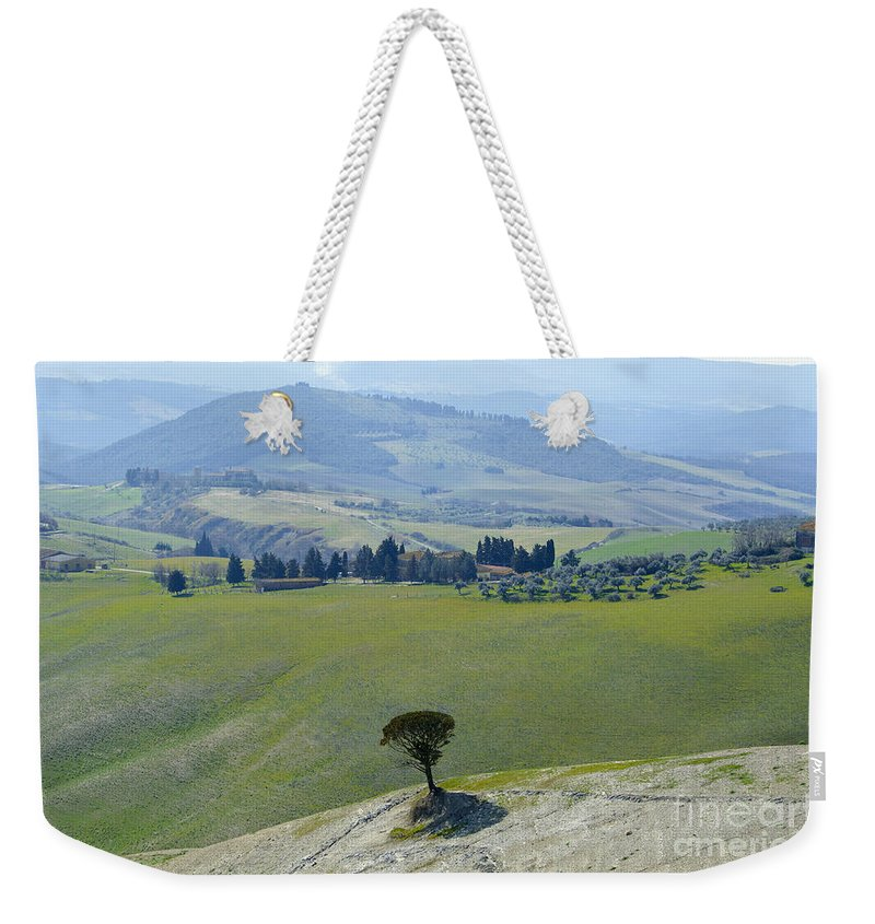 Trees Weekender Tote Bag featuring the photograph Landscape View by Mats Silvan