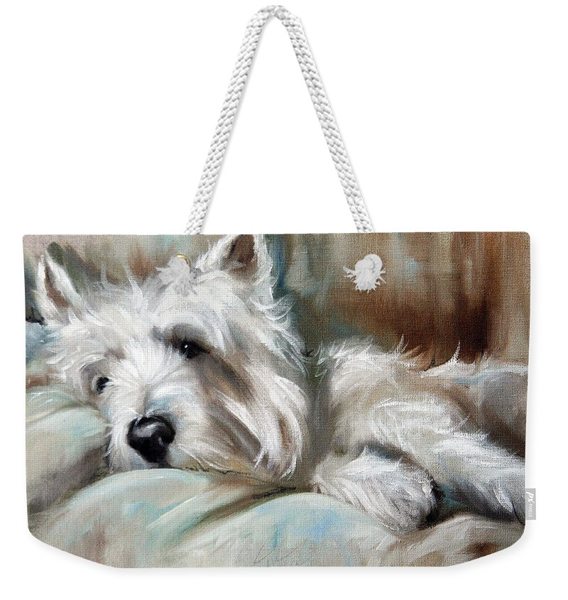 Art Weekender Tote Bag featuring the painting Languor by Mary Sparrow