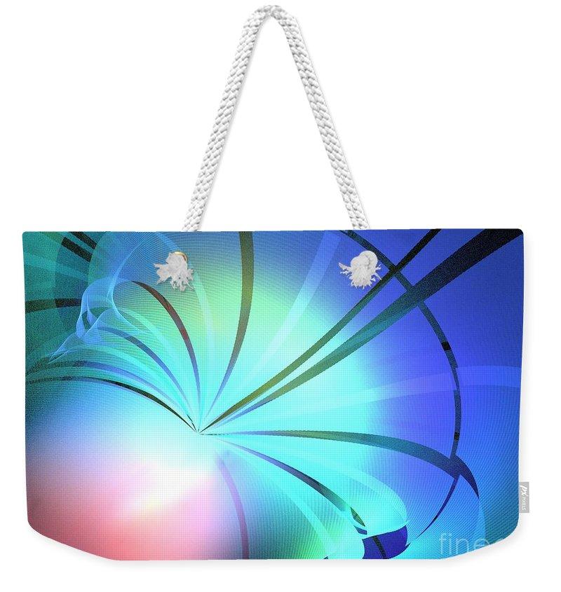 Apophysis Weekender Tote Bag featuring the digital art Lantern by Kim Sy Ok