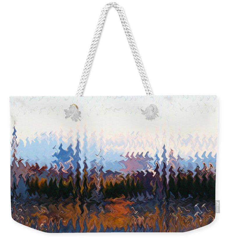Landscape Weekender Tote Bag featuring the photograph Las Vegas Nevada Skyline Digital Art by Carl Deaville