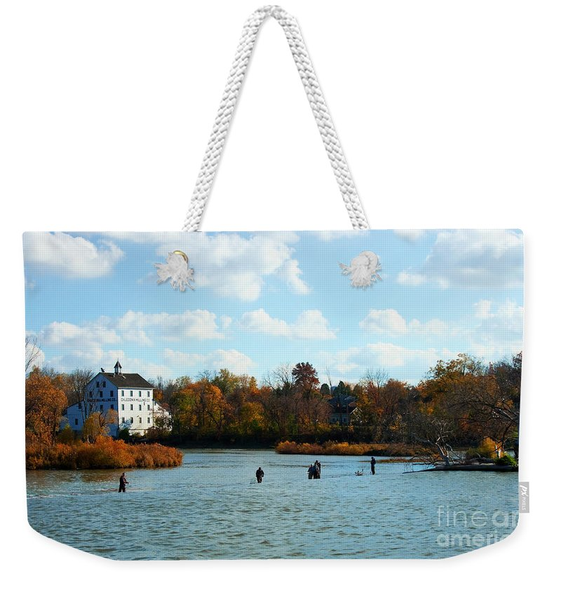 Fish Weekender Tote Bag featuring the photograph Last Cast by Barbara McMahon
