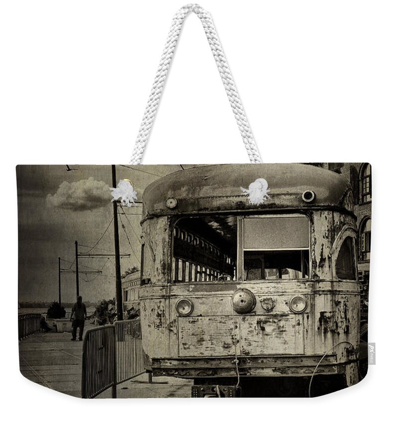 Bus Weekender Tote Bag featuring the photograph Last Stop by Madeline Ellis