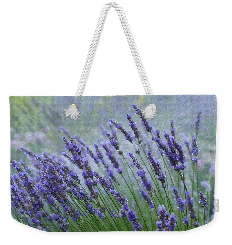 Ron Jones Weekender Tote Bag featuring the photograph Lavender by Ron Jones