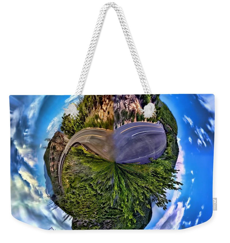Road Weekender Tote Bag featuring the photograph Left Or Right by Adam Vance