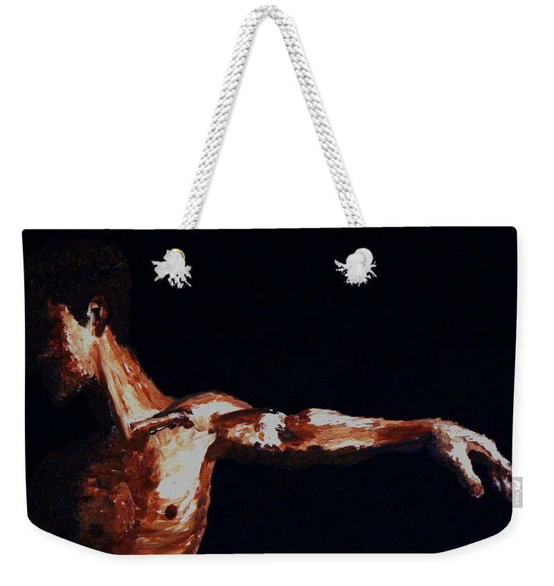 Dancer Weekender Tote Bag featuring the painting L'envol - The Take Off by Cris Motta