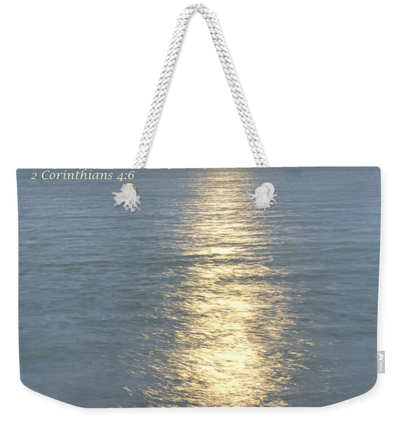 God Weekender Tote Bag featuring the photograph Let Light Shine Out Of Darkness by James BO Insogna