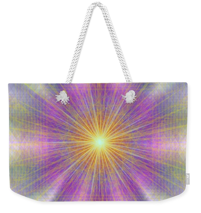 Digital Weekender Tote Bag featuring the digital art Let There Be Light 2012 by Kathryn Strick