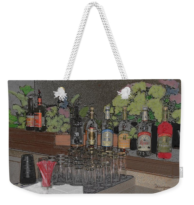 Liquor Weekender Tote Bag featuring the photograph Lets Party by Ericamaxine Price