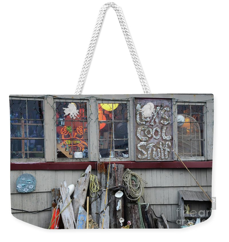 Lex Weekender Tote Bag featuring the photograph Lexs Cool Stuff by Bob Christopher