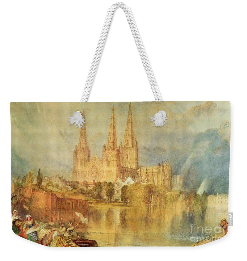 Lichfield Weekender Tote Bag featuring the painting Lichfield by Joseph Mallord William Turner