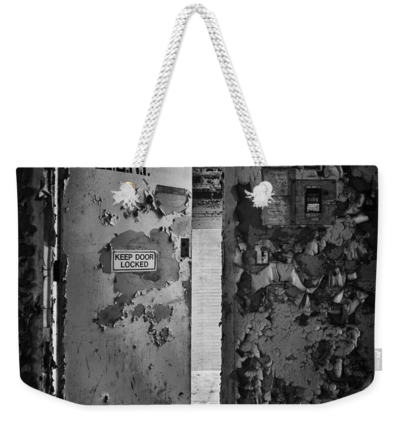 Door Weekender Tote Bag featuring the photograph L.i.g.h.t. by Evelina Kremsdorf