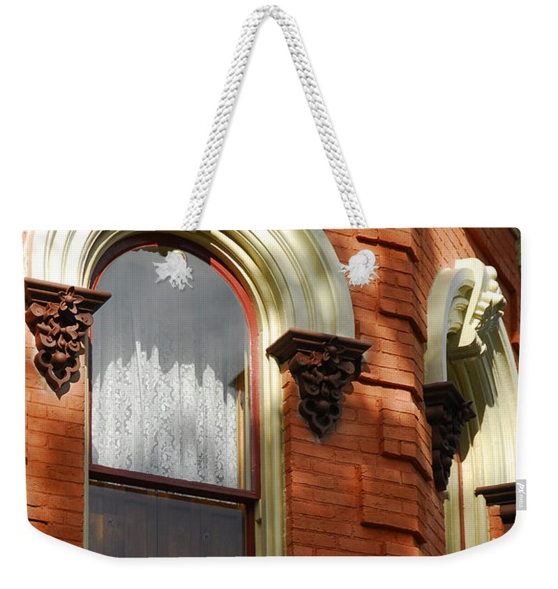 Window Weekender Tote Bag featuring the photograph Light In The Window by Cindy Manero