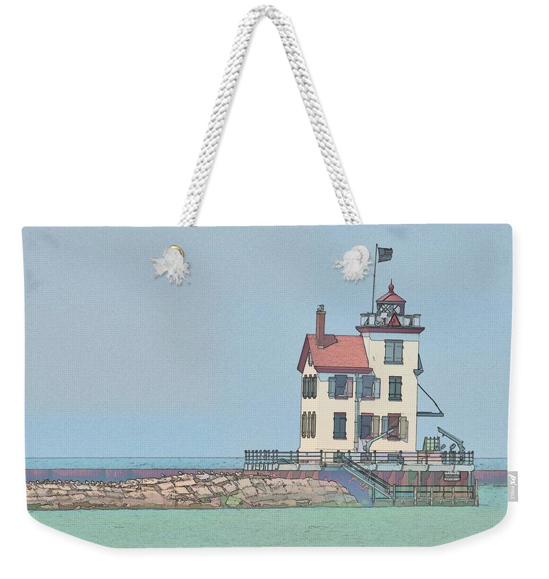 Lighthouse Weekender Tote Bag featuring the photograph Lighthouse by David Arment