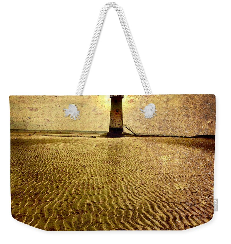 Lighthouse Weekender Tote Bag featuring the photograph Lighthouse Grunge by Mal Bray