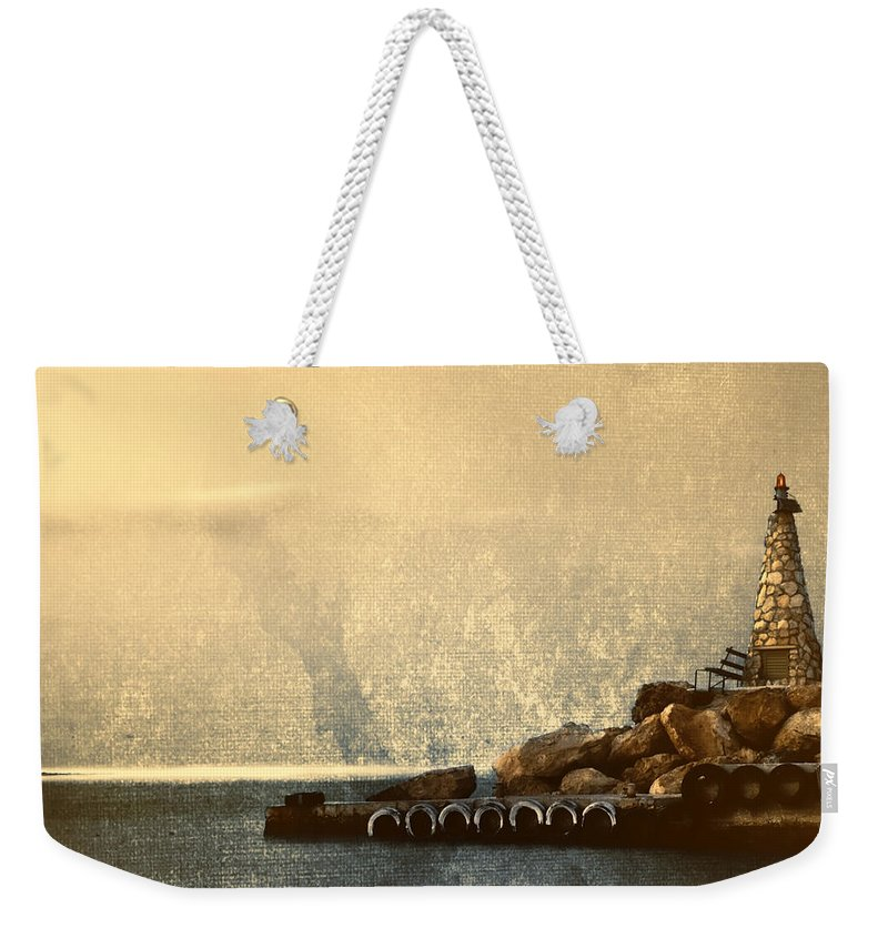 Beach Weekender Tote Bag featuring the photograph Lighthouse by Stelios Kleanthous