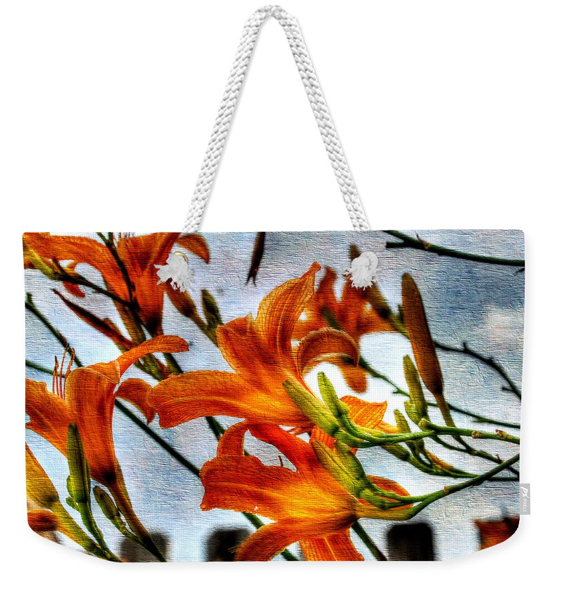 Lilly Weekender Tote Bag featuring the photograph Lilly by Todd Hostetter