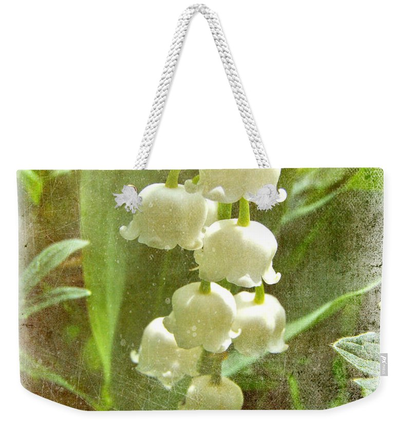 Lily Of The Valley Weekender Tote Bag featuring the photograph Lily Of The Valley - In White #2 by Mother Nature