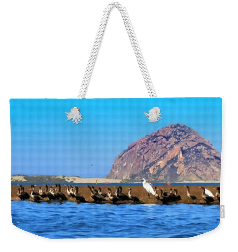 Birds Weekender Tote Bag featuring the photograph Line Up by Tap On Photo