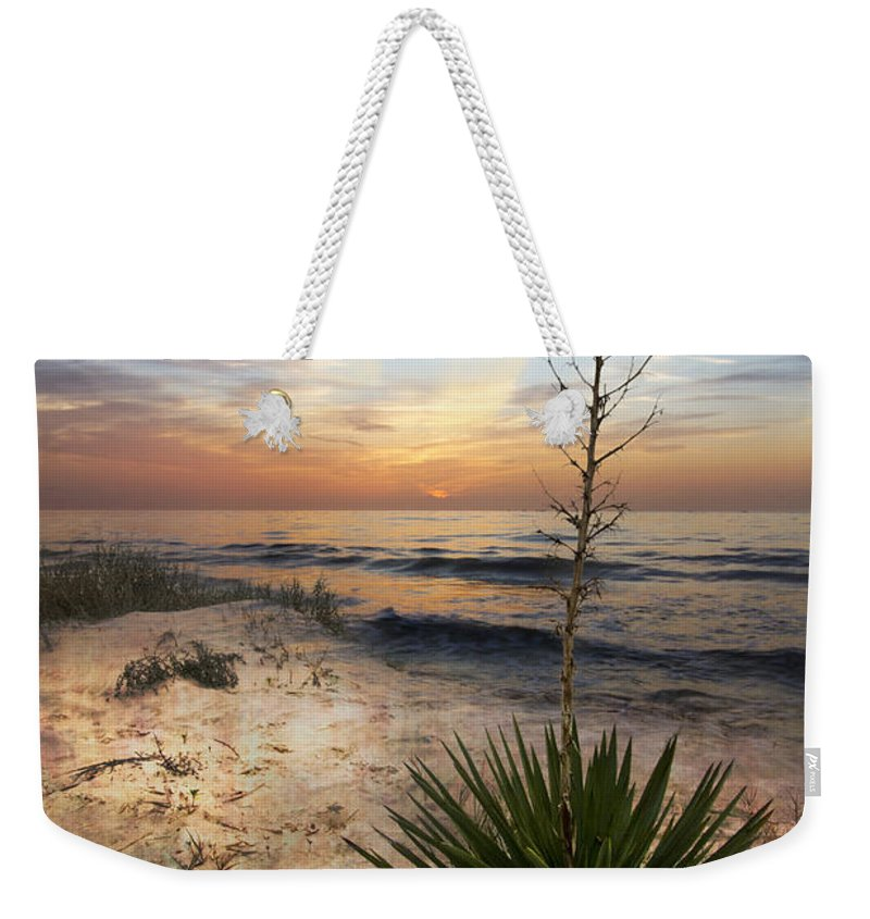 Clouds Weekender Tote Bag featuring the photograph Linger By The Sea by Debra and Dave Vanderlaan
