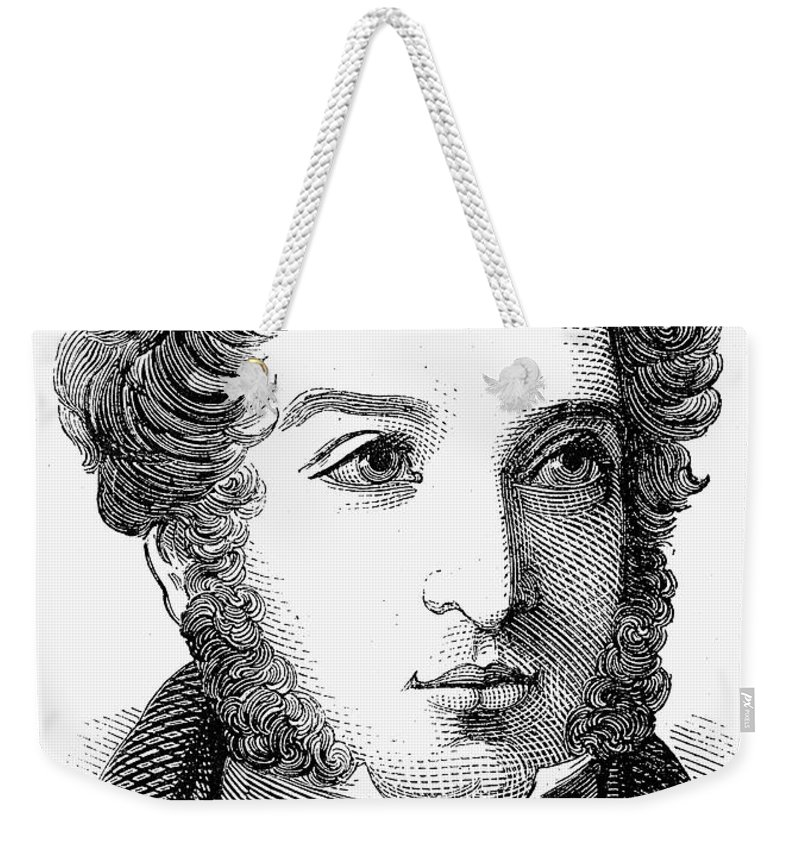 1847 Weekender Tote Bag featuring the photograph Lionel Nathan De Rothschild by Granger