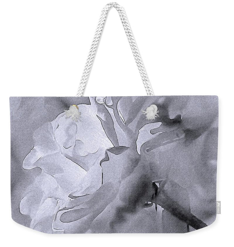 Rose Weekender Tote Bag featuring the photograph Liquid Rose by Georgiana Romanovna