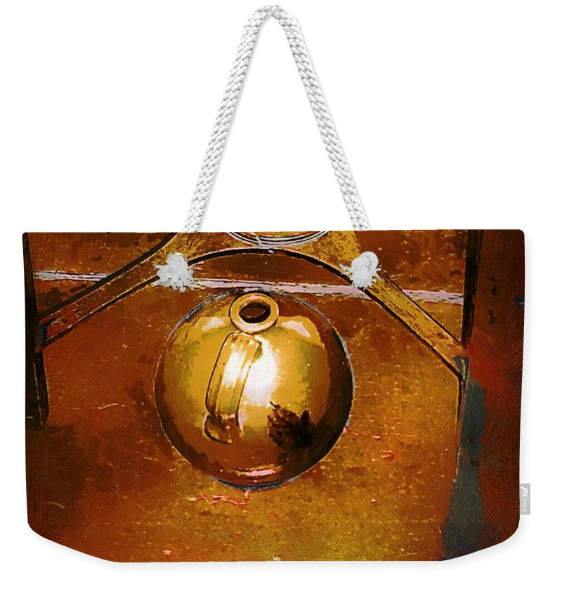 Americana Weekender Tote Bag featuring the painting Little Brown Jug by RC DeWinter