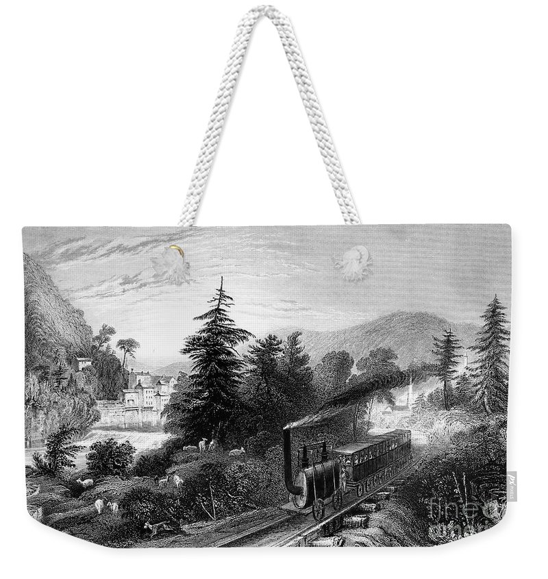 1839 Weekender Tote Bag featuring the photograph Little Falls: Railroad by Granger