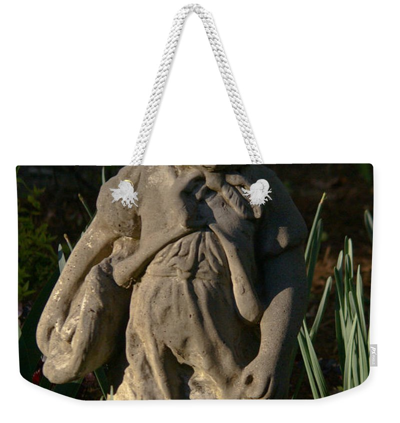 Cookeville Weekender Tote Bag featuring the photograph Little Girl Turned To Stone by Douglas Barnett