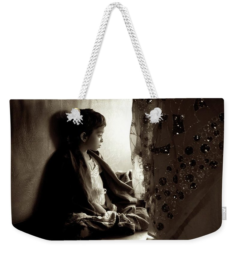 Children Weekender Tote Bag featuring the photograph Little Lady by Valerie Rosen