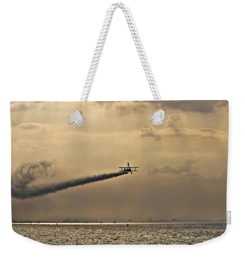 Biplane Weekender Tote Bag featuring the photograph Livin On The Edge by Scott Wood