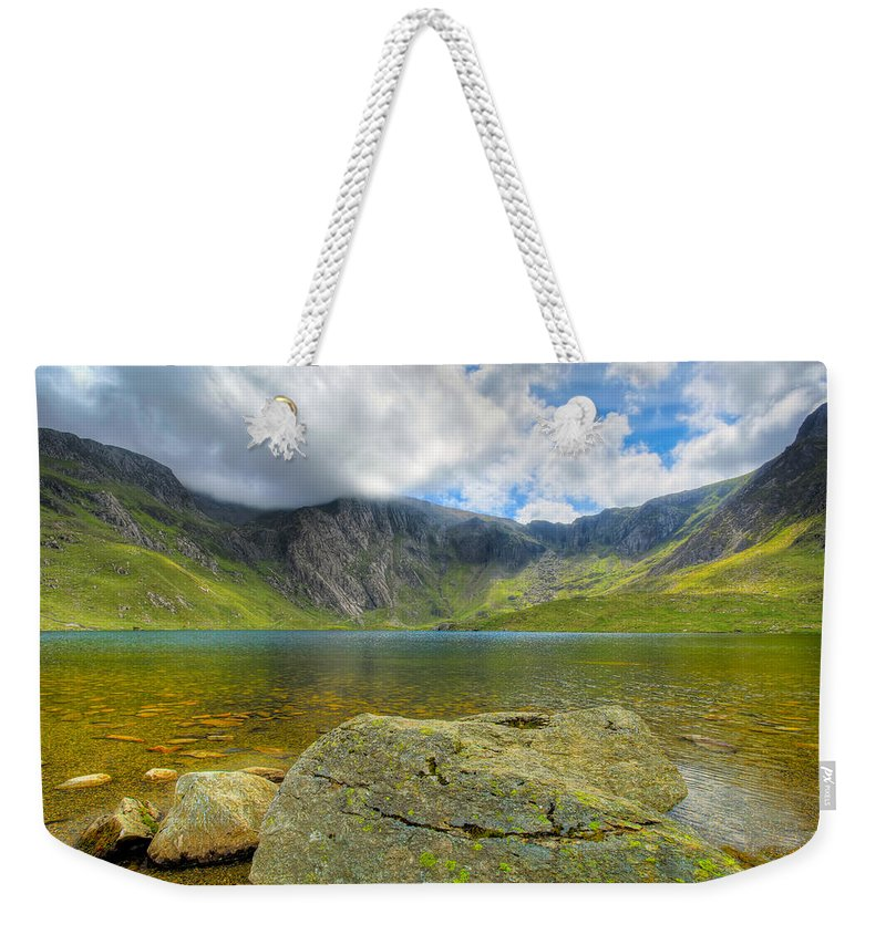 Plants Weekender Tote Bag featuring the photograph Llyn Idwal by Adrian Evans