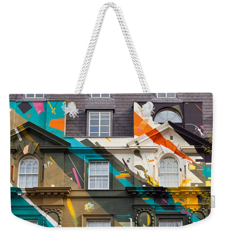 Colorful Weekender Tote Bag featuring the photograph London Building by Tom Gowanlock